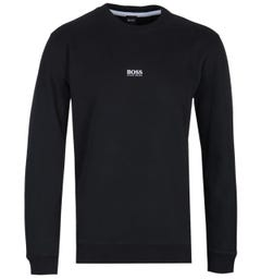 BOSS Weevo Centre Logo Black Sweatshirt
