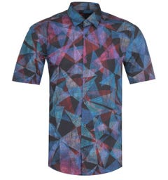 HUGO Ermino Multi Coloured PAtterned Fantasy Shirt