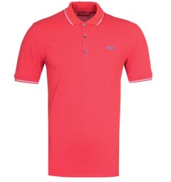 HUGO Dinoso 203 Slim Fit Twin Tipped Red Polo Shirt