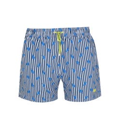BOSS Bodywear Palmfish Printed Blue & White Swim Shorts