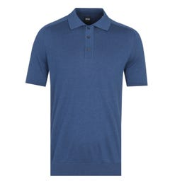 BOSS Ipaolo Knitted Navy Polo Shirt