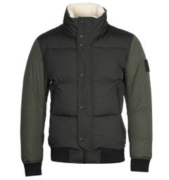 BOSS Relaxed Fit Premium Down Light Green Jacket