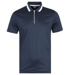 BOSS Paras Short Sleeve Navy Polo Shirt