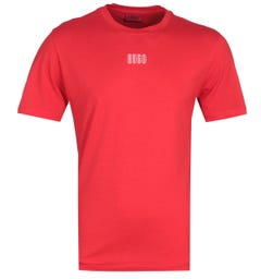 HUGO Durned Central Logo Red T-Shirt