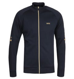BOSS Skaz 1 Zip Through Navy & Gold Sweatshirt