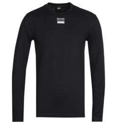 BOSS Bodywear Togn Central Logo Long Sleeve Black T-Shirt
