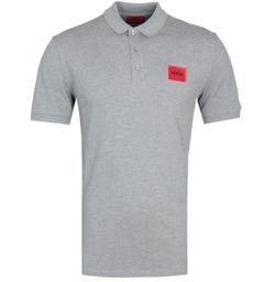 Hugo Dereso Red Tab Grey Polo Shirt