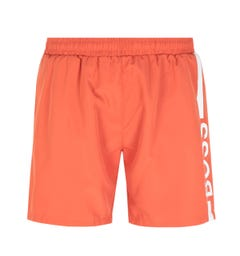 BOSS Bodywear Dolphin Stripe Logo Burnt Orange Swim Shorts