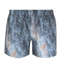 BOSS Bodywear Mandalay Marble Print Blue Swim Shorts