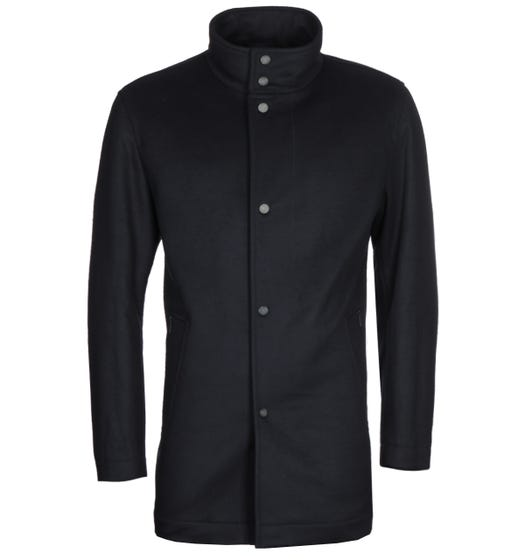 BOSS Cameron Felted Wool Navy Car Coat