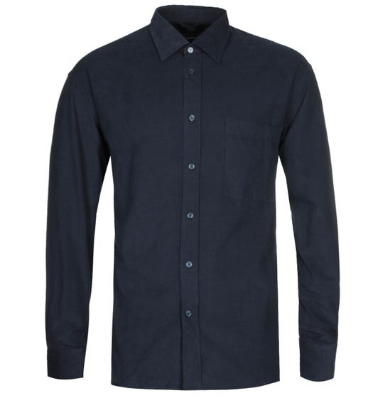 BOSS Felton Baby Cord Relaxed Fit Navy Shirt