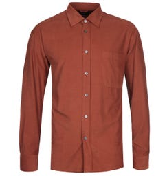 BOSS Felton Baby Cord Relaxed Fit Brown Shirt