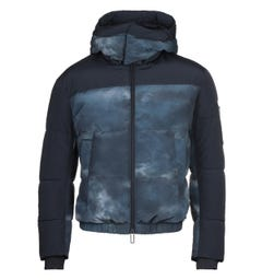 Emporio Armani Two-Tone Nylon Down Storm Cloud Jacket