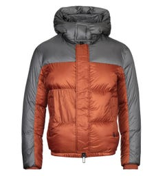 Emporio Armani Two-Tone Nylon Down Quilted Orange Jacket
