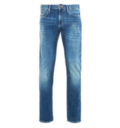 Emporio Armani J06 Slim Fit Faded Denim Blue Jeans