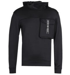 Emporio Armani Black Felpa Hooded Sweatshirt