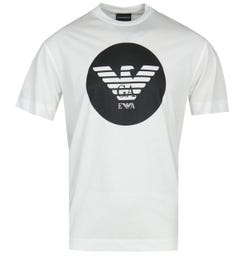 Emporio Armani Circle Eagle Logo White T-Shirt