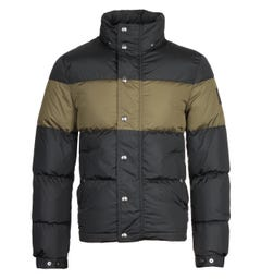 Belstaff Dome Solid Black & Sage Green Puffer Jacket