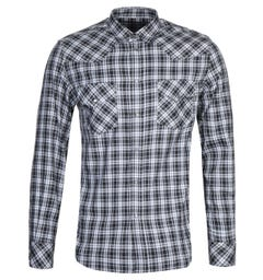 Diesel S-East-Long-O Black & White Check Shirt