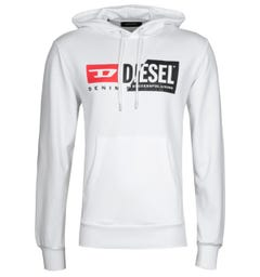 Diesel S-Girk Cuty White Hooded Sweatshirt