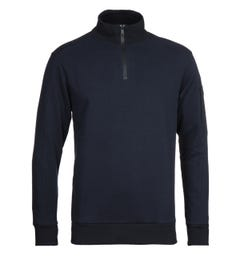 Paul & Shark Navy Quarter Zip Sweatshirt