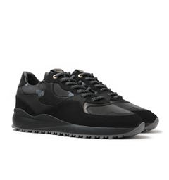 Android Homme Santa Monica Stealth Black Reflective Trainers