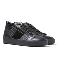 Android Homme Propulsion Mid Geo Black & Grey Trainers
