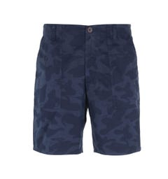 Farah Patch Pocket Navy Camo Shorts