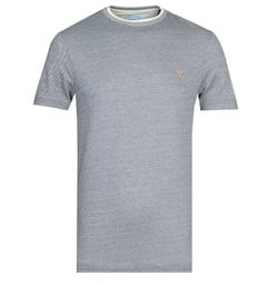 Farah Navy Puppytooth T-Shirt