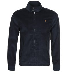 Farah Bowie True Navy Cord Harrington Jacket