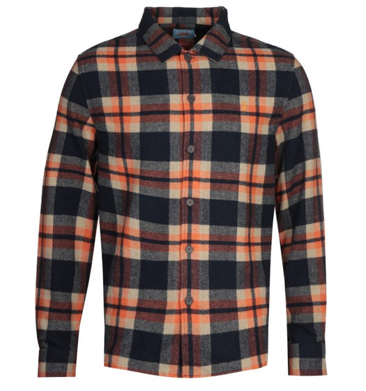 Farah Orange Check Overshirt