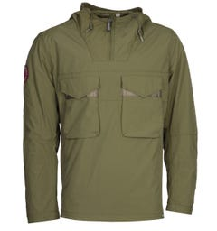 Pretty Green Likeminded Overhead Khaki Jacket