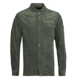 Paul & Shark Green Corduroy Overshirt