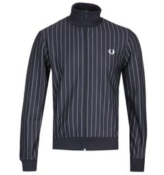 Fred Perry Pinstripe Navy Track Jacket
