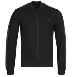 Fred Perry Taped Black Bomber Track Jacket
