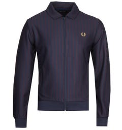 Fred Perry Striped Navy Track Jacket
