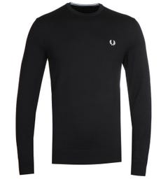 Fred Perry Classic Crew Neck Black Sweater