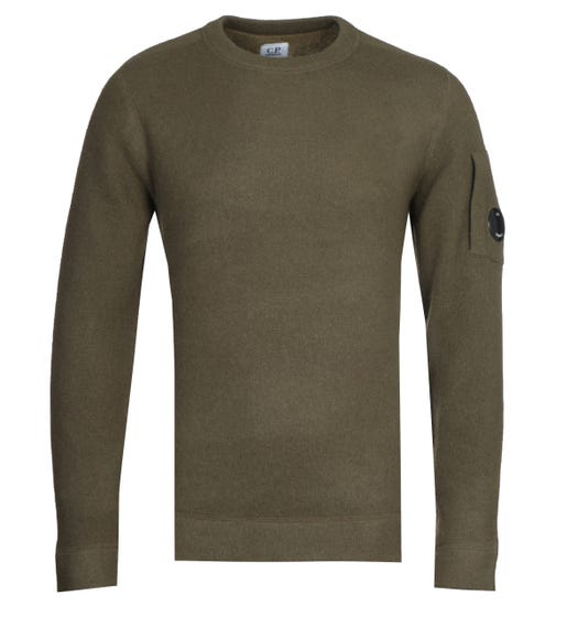 CP Company Green Crew Knit Sweater