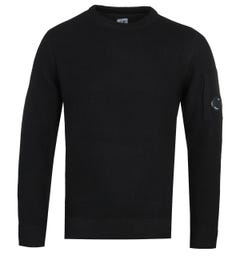 CP Company Black Crew Knit Sweater