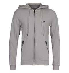 True Religion Putty Grey Hooded Sweatshirt