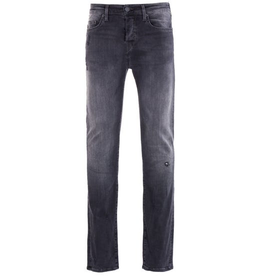 True Religion Rocco Super Stretch Relaxed Skinny Jeans - Black Wash