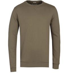 True Religion Olive Crew Neck Sweatshirt