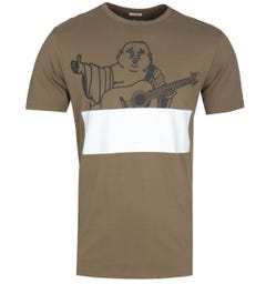 True Religion Buddha Black Olive T-Shirt