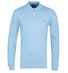 PS Paul Smith Regular Fit Long Sleeved Sky Blue Polo Shirt