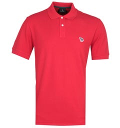 PS Paul Smith Regular Fit Zebra Logo Red Polo Shirt