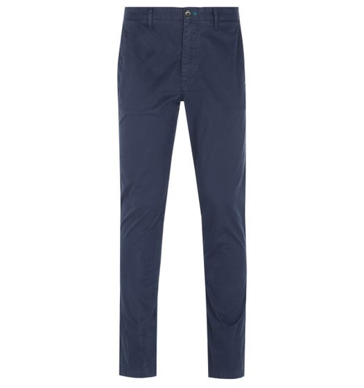 PS Paul Smith Regular Fit Stitched Navy Chinos