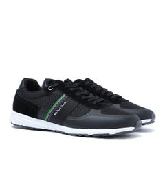 PS Paul Smith Huey Black Suede & Mesh Trainers