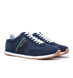 PS Paul Smith Prince Navy Striped Trainers