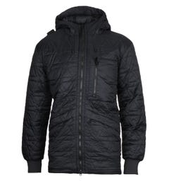 MA.Strum Polygon Quilt Black Hooded Jacket