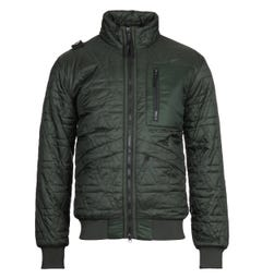 MA.Strum Polygon Quilt Oil Slick Green Jacket